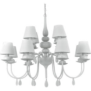 Подвесная люстра Ideal Lux Blanche SP12 Bianco люстра ideal lux caesar caesar sp12 cromo