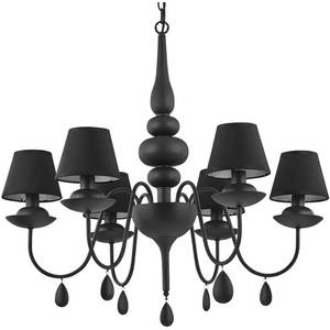 Подвесная люстра Ideal Lux Blanche SP6 Nero люстра ideal lux hilton hilton sp6 round nero