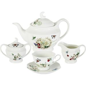 Чайный сервиз 15 предметов на 6 персон Primavera Ягодная поляна (PW-15-344D-AL) colombo чайный сервиз из 15 предметов на 6 персон флёр c2 ts 15 3701al