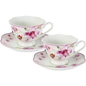 Чайный набор 4 предмета на 2 персоны Primavera Розовые цветы (PW-15-412B-AL)
