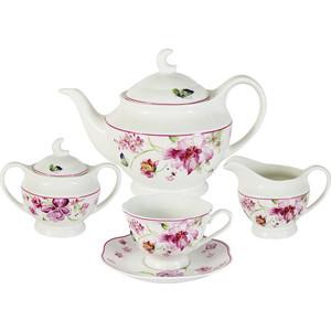Чайный сервиз 15 предметов на 6 персон Primavera Розовые цветы (PW-15-412D-AL)