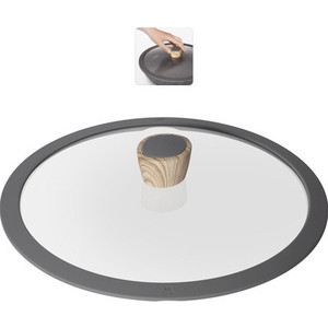 Крышка с силиконовым ободком d 28 см Nadoba Mineralica (751211) крышка с силиконовым ободком d 26 см nadoba greta 751312