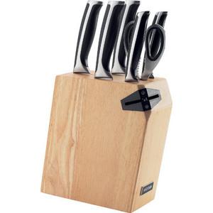 Набор из 5 кухонных ножей, ножниц и блока для ножей с ножеточкой Nadoba Ursa (722616) набор кухонных ножей asd wg901606