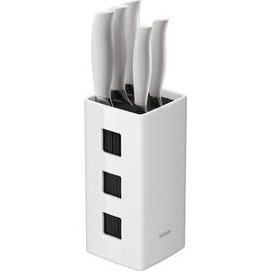 Набор из 5 кухонных ножей с универсальным керамическим блоком Nadoba Blanca (723418) набор кухонных ножей asd wg901606