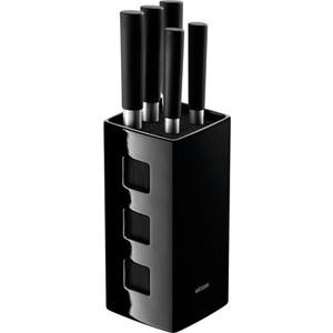 Набор из 5 кухонных ножей с универсальным керамическим блоком Nadoba Keiko (722920) набор кухонных ножей asd wg901606