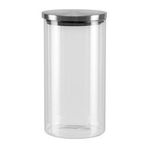 Ёмкость для сыпучих продуктов со стальной крышкой 1 л Nadoba Silvana (741411) ёмкость для сыпучих продуктов с мерным стаканом 1 15 л nadoba petra 741012