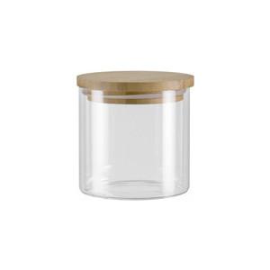 Ёмкость для сыпучих продуктов с крышкой из бамбука 0,45 л Nadoba Vilema (741513) емкость для сыпучих продуктов nadoba vilema 0 7 л
