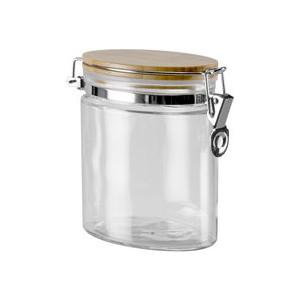 Ёмкость для сыпучих продуктов Nadoba с крышкой из бамбука с замком 0,8 л Dusana (741612) емкость для сыпучих продуктов nadoba dasa с крышкой с замком 2 л