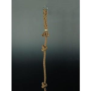 Канат для лазания Kv.Rezac 3 м. с узлами (d2,5 см, джут, кольцо для подвешивания)