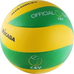 Мяч волейбольный Mikasa MVA200CEV (р. 5), официальный мяч Лиги Чемпионов ЕКВ цена и фото