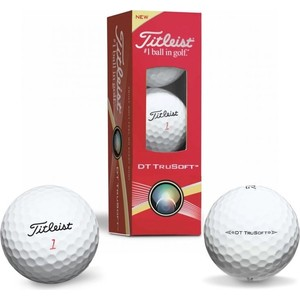 Мяч для гольфа Titleist TitleistDT TruSoft (белый, 3 шт.)
