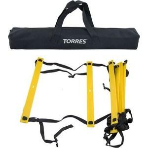Лестница для тренировок Torres 4 м, (перекладины 9 шт. из пластика, регулируемое расстояние между перекладинами).