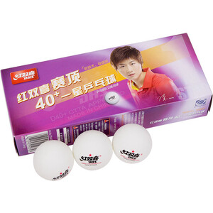 Фотография товара мяч для настольного тенниса DHS CF40C (10шт, белый) (563413)