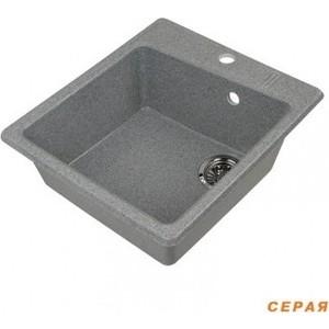 Мойка кухонная Акватон Парма 41x51x19 см серая, без сифона (130-M.03.150)