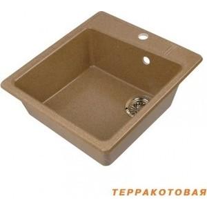 Мойка кухонная Акватон Парма 41x51x19 см терракотовая, без сифона (130-M.03.307)