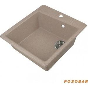 Мойка кухонная Акватон Парма 41x51x19 см розовая, без сифона (130-M.03.403)