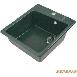 Мойка кухонная Акватон Парма 41x51x19 см зеленая, без сифона (1A713032PM120)