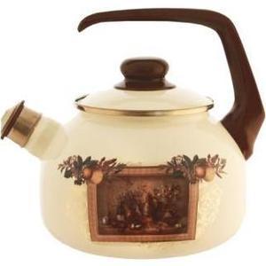 Чайник эмалированный со свистком 2.5  Metrot Таково Картина (127871)