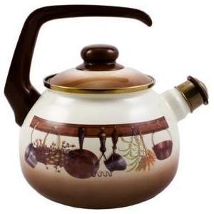 Чайник эмалированный со свистком 2.5 л Metrot Таково Кухня (115432) riess чайник со свистком pastell 2 л 0543 015 rosa riess