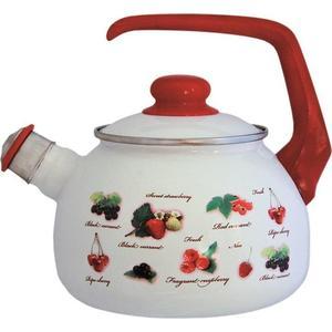 Чайник эмалированный со свистком 2.5 л Metrot Таково Ягоды (132351) чайник эмалированный со свистком 2 5 л metrot таково кухня 115432