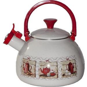 Чайник эмалированный со свистком 2.75 л Metrot Таково Кофейная кантата (166001)