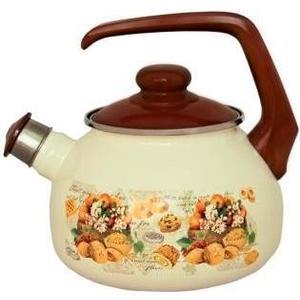 Чайник эмалированный со свистком 2.5 л Metrot Таково Сластена (135413) riess чайник со свистком pastell 2 л 0543 015 rosa riess