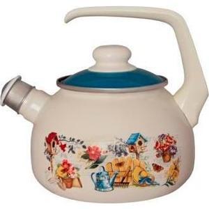 Чайник эмалированный со свистком 2.5  Metrot Таково Дача (137020)