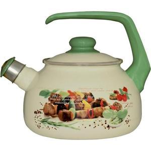 Чайник эмалированный со свистком 2.5  Metrot Таково Пикник (142637)