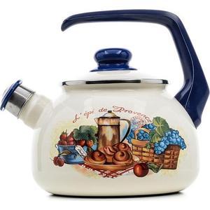 Чайник эмалированный со свистком 2.5  Metrot Таково Прованс (159451)