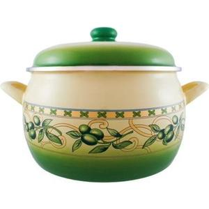 Кастрюля эмалированная 7.5 л Metrot Эксклюзив Оливки (110643) набор посуды metrot оливки