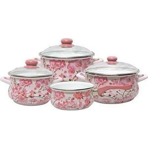 Набор посуды 7 предметов Metrot Эмина Сакура (098079) набор посуды эмаль элеонора 7 предметов