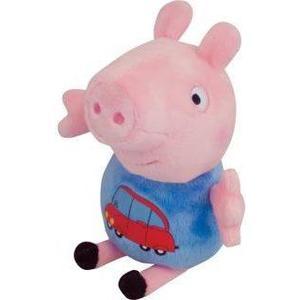 Мягкая игрушка Росмэн Джордж с машинкой Peppa Pig (29620)