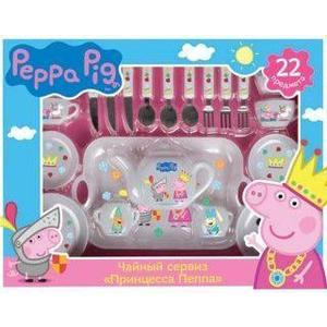 Набор посуды Росмэн Принцесса Пеппа 22 пр Peppa Pig (29700) подарочный набор посуды пеппа принцесса peppa pig