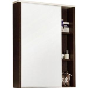 Зеркальный шкаф Акватон Крит 60 венге, фасад белый (1A163202KT500) aquaton крит правосторонний с бельевой корзиной венге