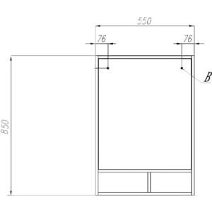 Зеркало для ванной Акватон Йорк 50 бежевый/джарра (1A170002YOAT0) акватон мебель для ванной акватон венеция 75 черная