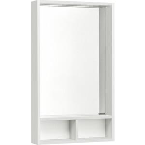 Зеркало для ванной Акватон Йорк 50 белый глянец/выбеленное дерево (1A170002YOAY0)