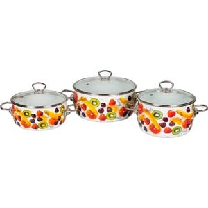 Набор кастрюль 3 предмета Vitross Fruits (1DA035S) набор кастрюль 3 предмета vitross imperio 8da035s вишневый