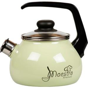 Чайник эмалированный со свистком 3.0 л Vitross Maestro (1RC12 салатовый) набор кастрюль 3 предмета vitross maestro 8dt135s салатовый