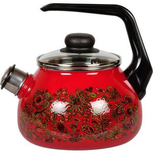 Чайник эмалированный со свистком 2.0 л Vitross Imperio (1RA12 вишневый) набор кастрюль 3 предмета vitross imperio 13 8da135s вишневый