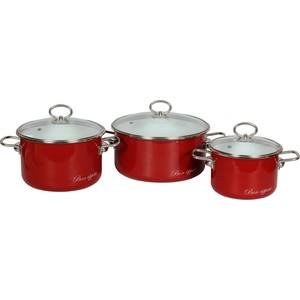 Набор кастрюль 3 предмета Vitross Bon Appetit №03 (8DB035S вишневый) набор кастрюль 3 предмета vitross limon 1db135s