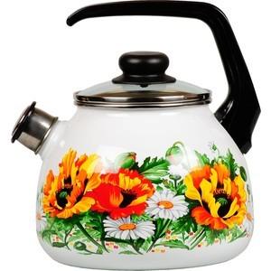 Чайник эмалированный со свистком 3.0 л Vitross Floristeria (1RC12) чайник сф со св 3 0лtango 1rc12 983440
