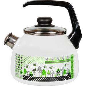 Чайник эмалированный со свистком 3.0 л Vitross Green life (1RC12)