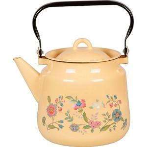 Чайник эмалированный 3.5 л СтальЭмаль Луговые цветы (1с26с)