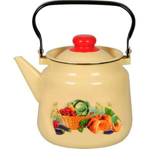 Чайник эмалированный 3.5 л СтальЭмаль Урожай (1с26с) ковш эмалированный стальэмаль ягоды 1 л