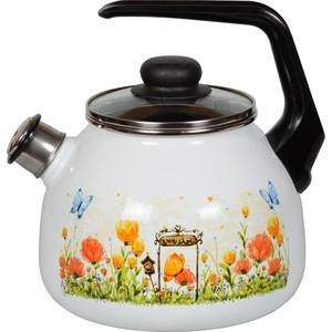 Чайник эмалированный со свистком 3.0 л СтальЭмаль Голландский (4с209я) чайник стальэмаль цветочный 2 л со свистком