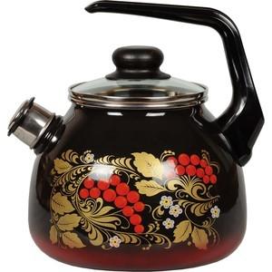 Чайник эмалированный со свистком 3.0 л СтальЭмаль Рябина (4с209я) чайник стальэмаль цветочный 2 л со свистком