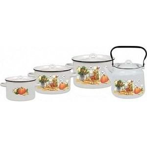Наборы посуды 4 предмета СтальЭмаль Дачная (1с142/1) поиск семена тыква твердая дачная 10 шт