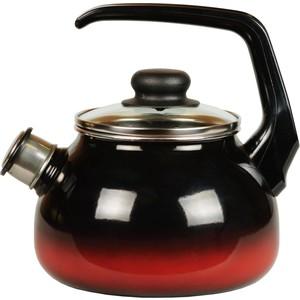 Чайник эмалированный со свистком 2.0 л СтальЭмаль Кармен (4с210я) чайник стальэмаль цветочный 2 л со свистком
