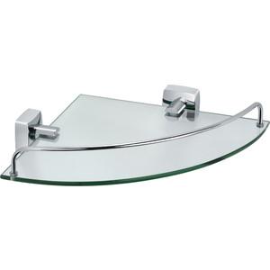 Полка стеклянная угловая 25x35x5 Fixsen Kvadro (FX-61303A) полка для полотенец 60 см fixsen kvadro fx 61315