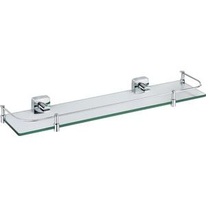 Полка стеклянная с ограничителем 50 см Fixsen Kvadro (FX-61303B) полка для полотенец 60 см fixsen kvadro fx 61315